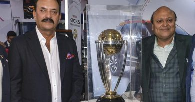 2019 World Cup trophy touches down in New Delhi