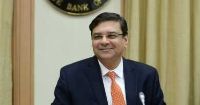 RBI governor Urjit Patel resigns from his duties.